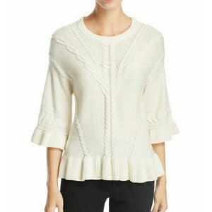 NWT Kate Spade thick cable knit cream sweater